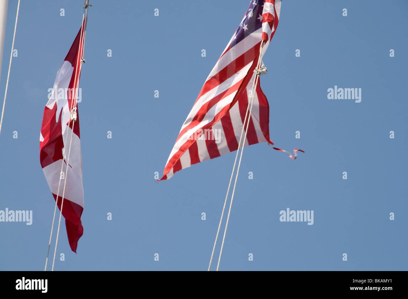 canadian american flag stock photos canadian american flag stock