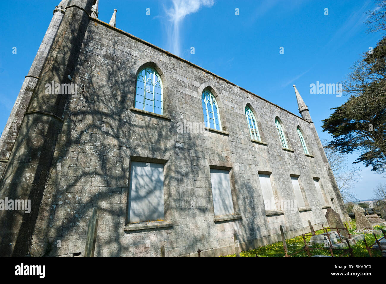St Day Old Church, St Day Cornwall - Stock Image