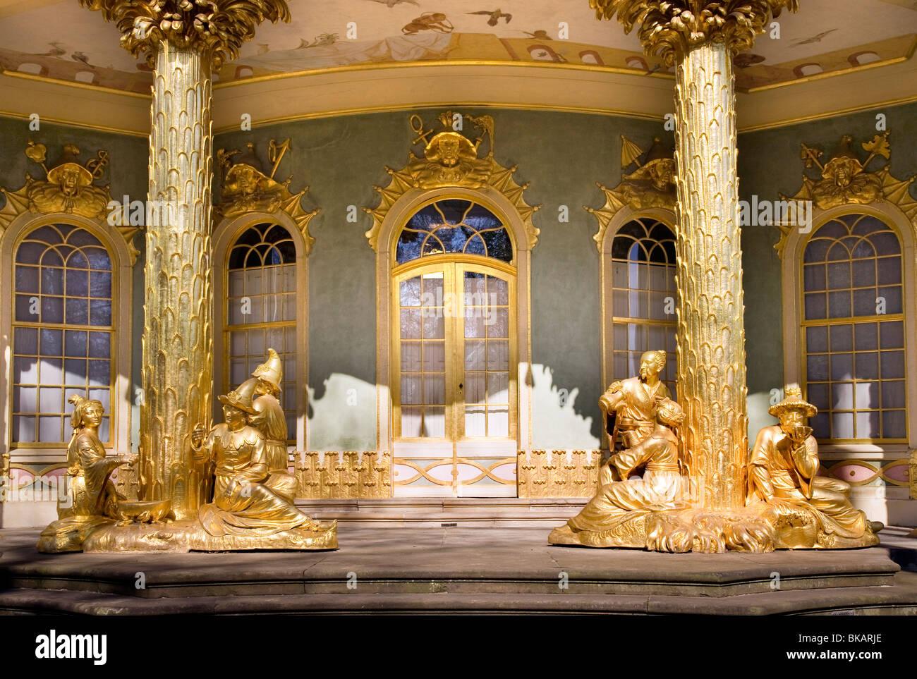 Chinese Tea House, Sanssouci Park, Potsdam , Brandenburg, Germany - Stock Image