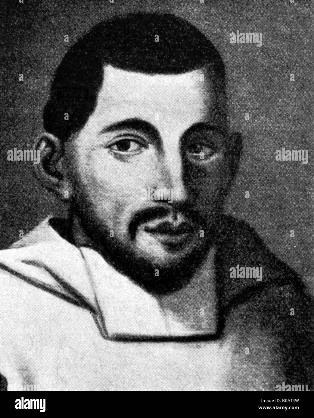 Banchieri, Adriano, 3.9.1568 - 1634, Italian musician (organist) and music theorist, portrait, after contemporary - Stock Image