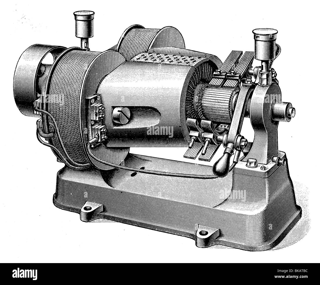 Dynamo Machine Stock Photos Images Alamy Schematic Diagram Of Disk
