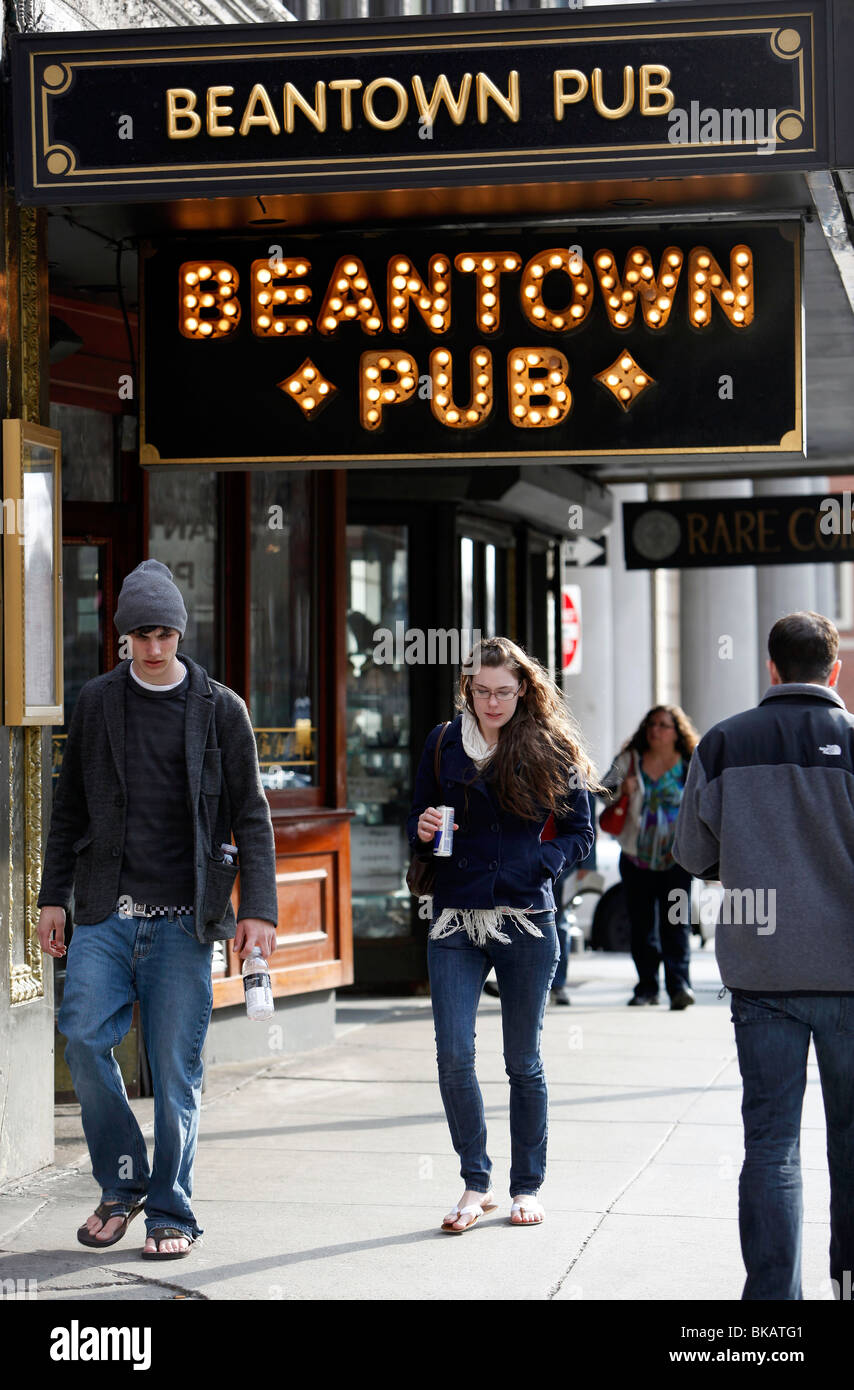 Street scene, downtown Boston, Massachusetts - Stock Image