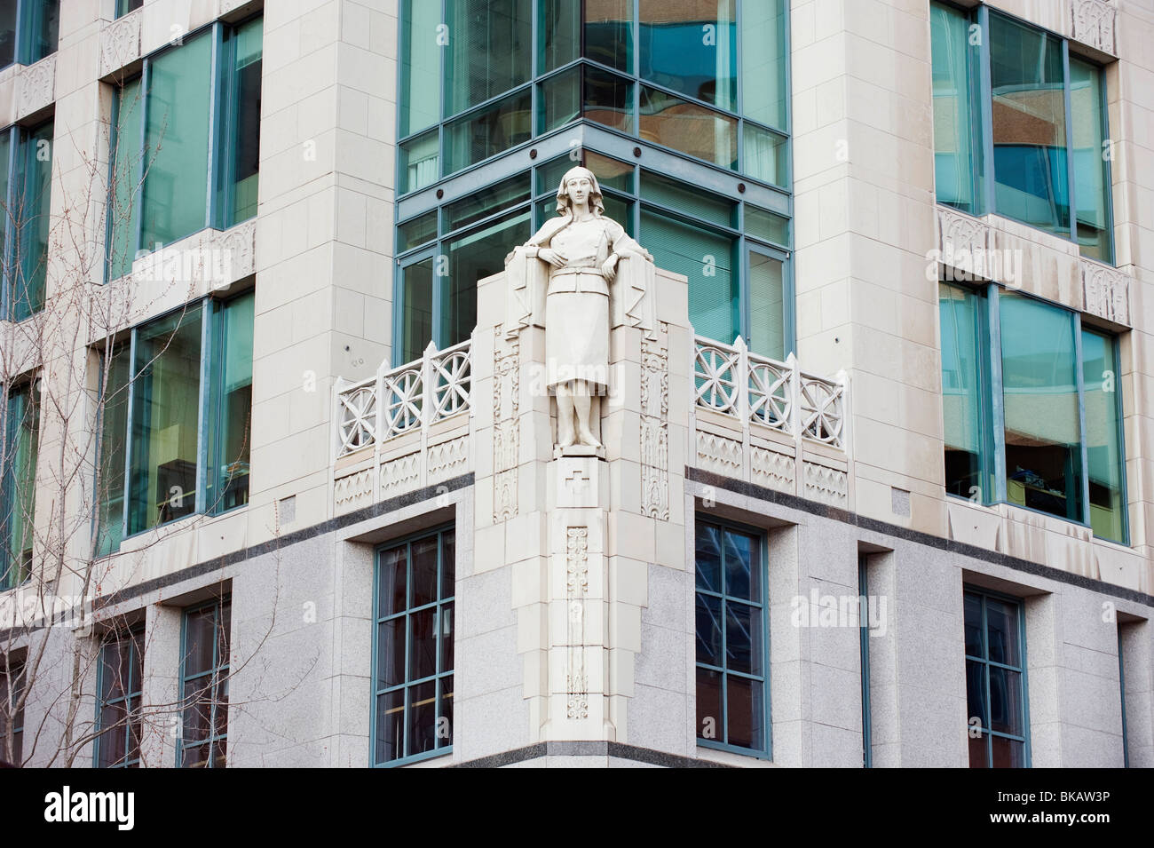stone sculpture on downtown building Vancouver British Columbia
