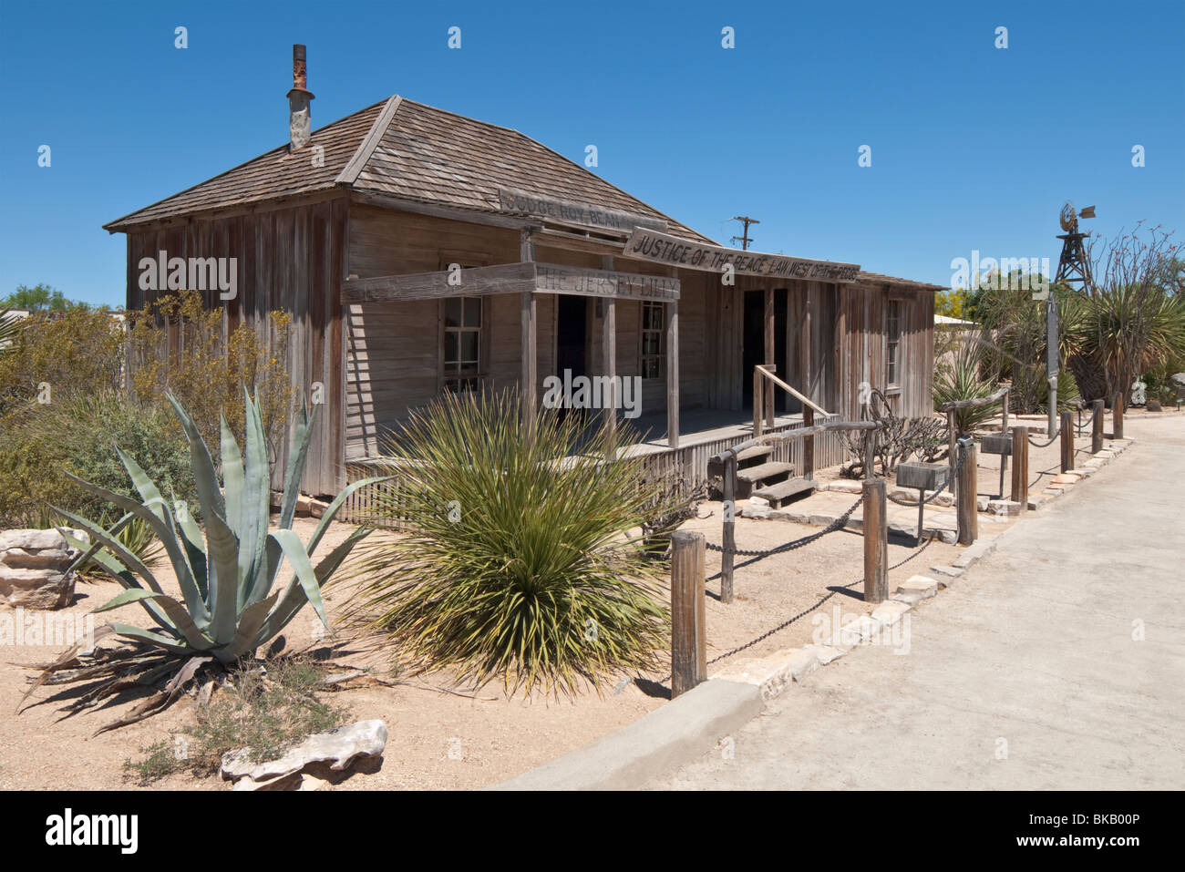 Texas Langtry Judge Roy Bean Visitor Center The Jersey Lilly Saloon Original