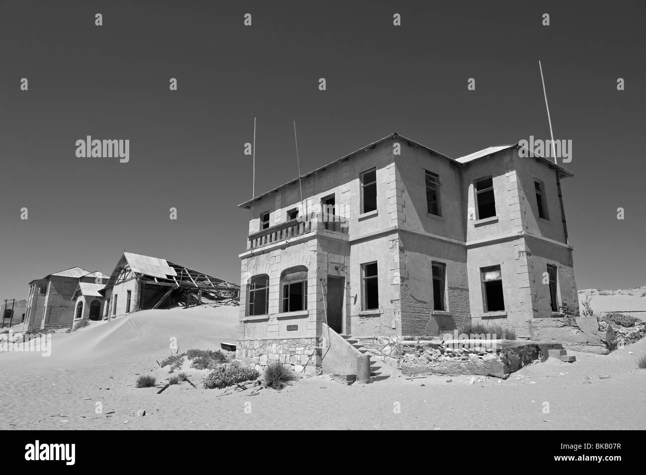 The Architekt or Architects House, Kolmanskop Ghost Town near Luderitz, Namibia - Stock Image