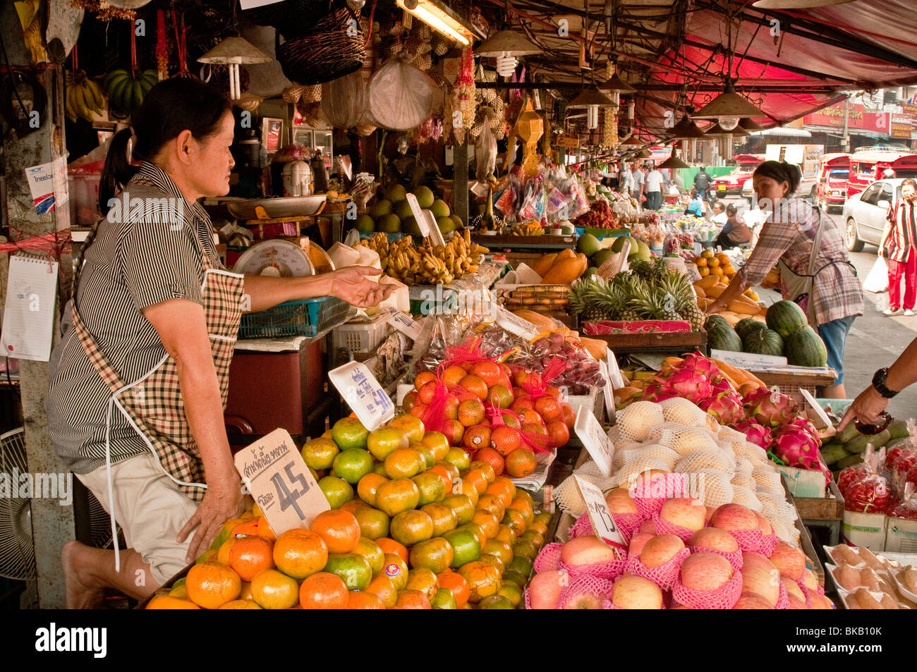 Marketplace near Chinatown and Ping River, Chiang Mai, Thailand. - Stock Image