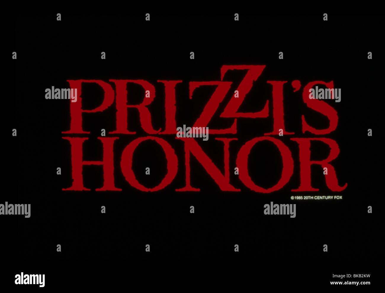 PRIZZI'S HONOR -1985 POSTER - Stock Image