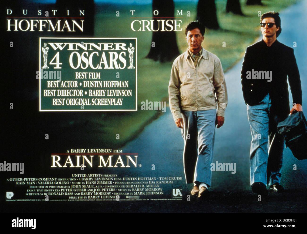 Rain Man 1988 Dustin Hoffman Tom Cruise Poster Rram 108 Stock Photo Alamy