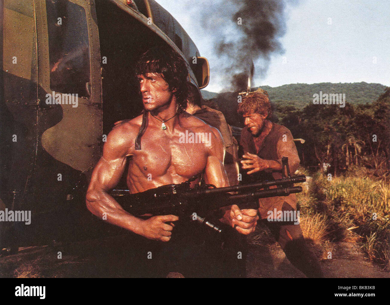 RAMBO: FIRST BLOOD PART 2 (1985) SYLVESTER STALLONE RFB 002FOH - Stock Image