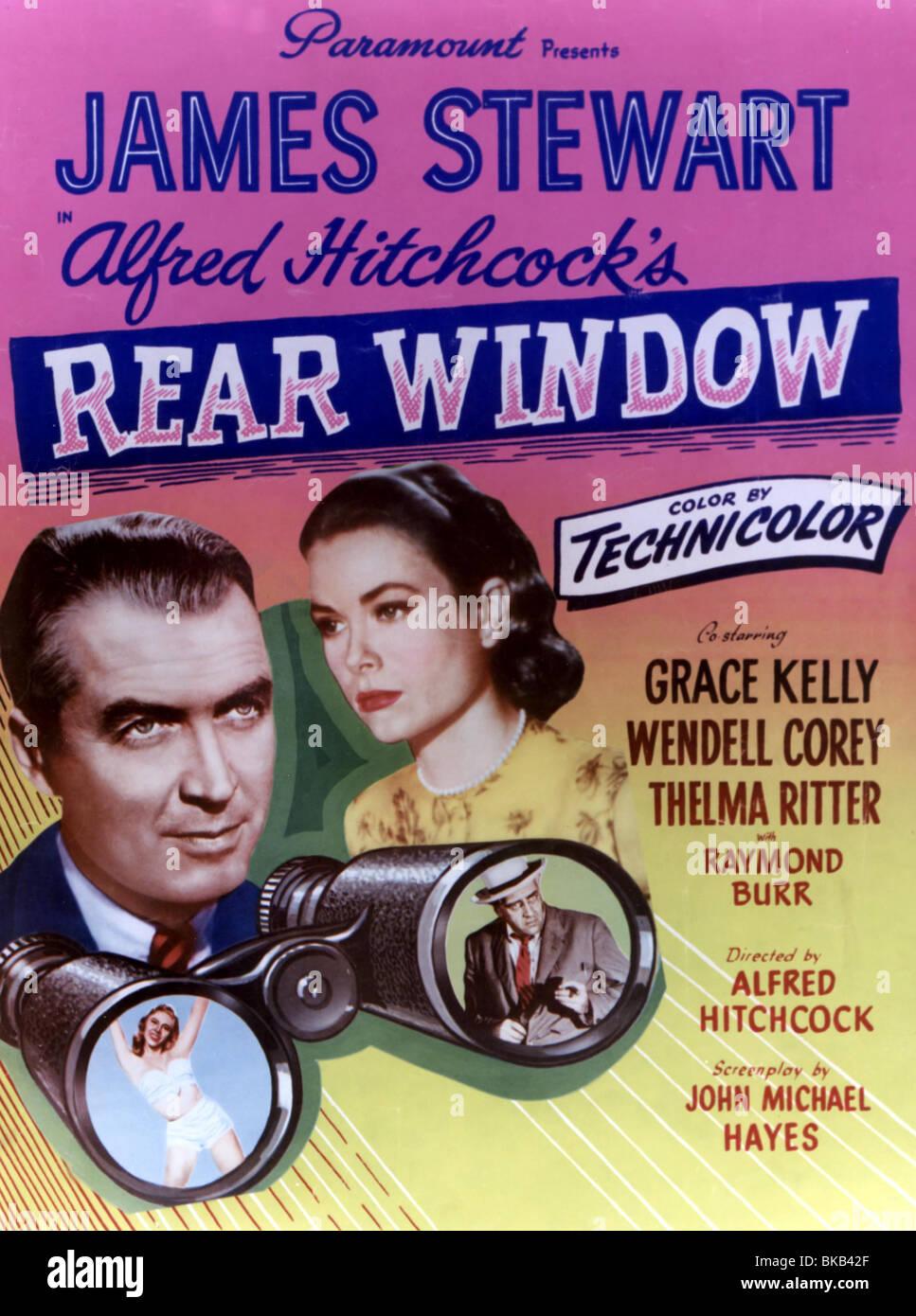 REAR WINDOW (1954) JAMES STEWART, GRACE KELLY POSTER RRW 002CP - Stock Image