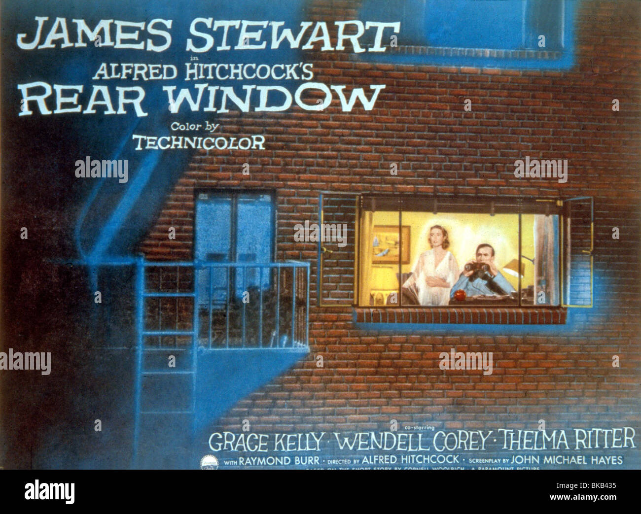 REAR WINDOW -1954 POSTER - Stock Image