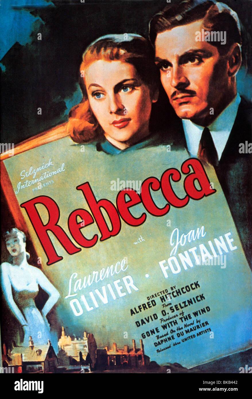 REBECCA -1940 POSTER - Stock Image
