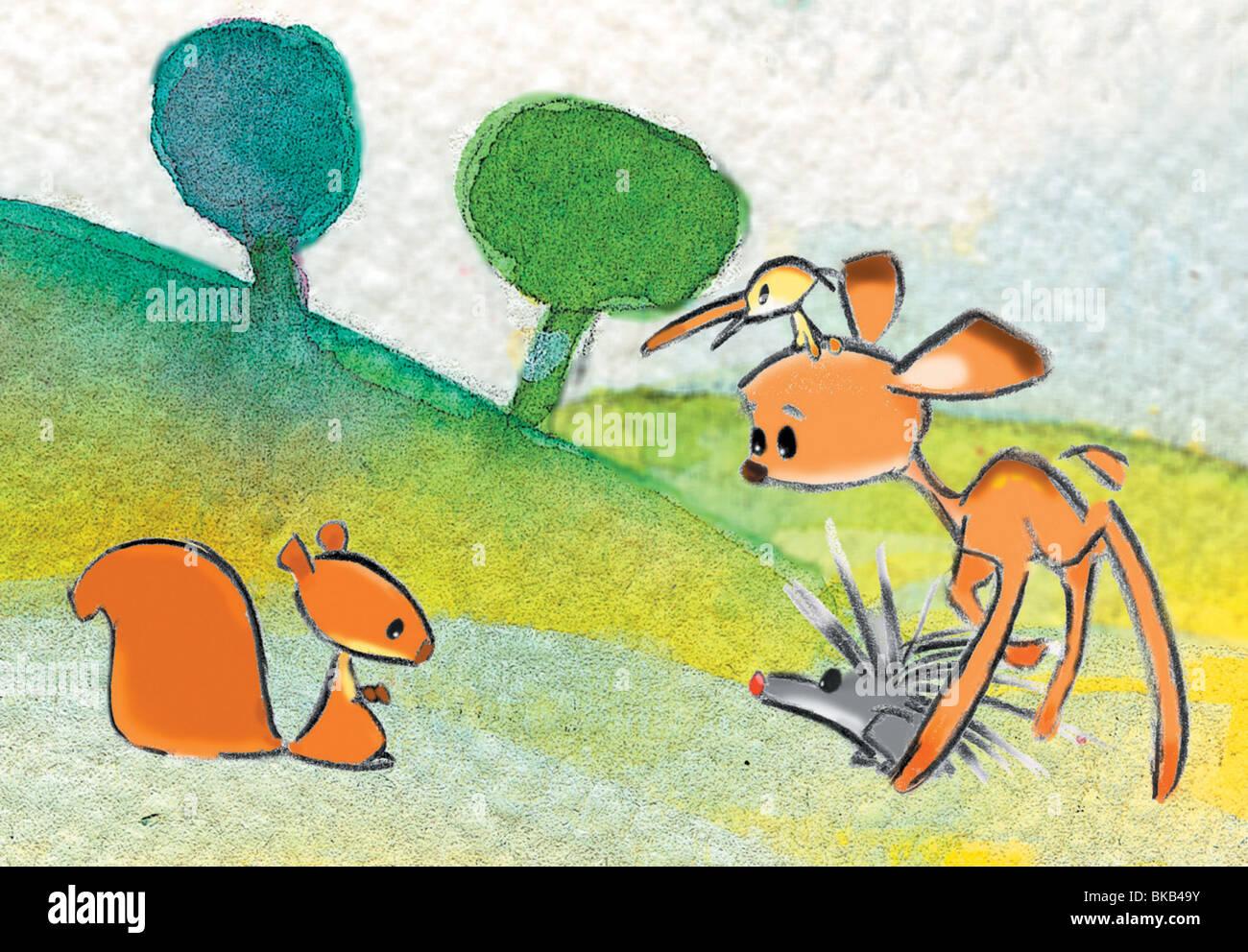 L'Ecureuil qui voyait tout en vert  C'est moi qui l'ai trouvé ! Year : 2002 Director : Behzad Farahat - Stock Image