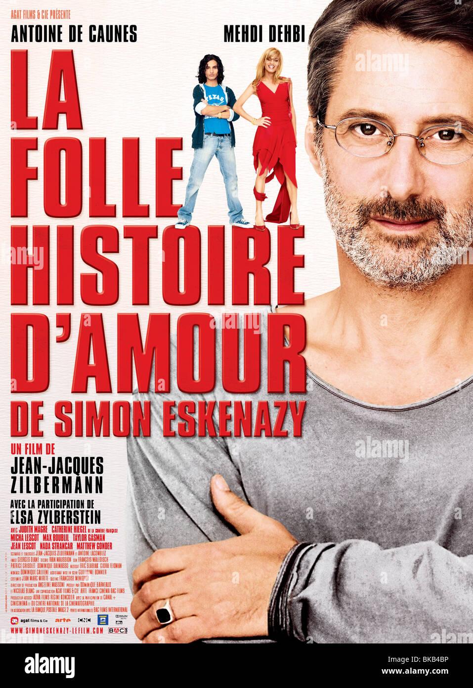 La Folle histoire d'amour de Simon Eskenazy  Year  2009 Director  Jean-Jacques Zilbermann  Antoine de Caunes Movie Stock Photo
