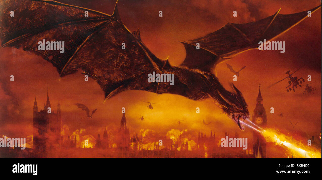 REIGN OF FIRE -2002 - Stock Image