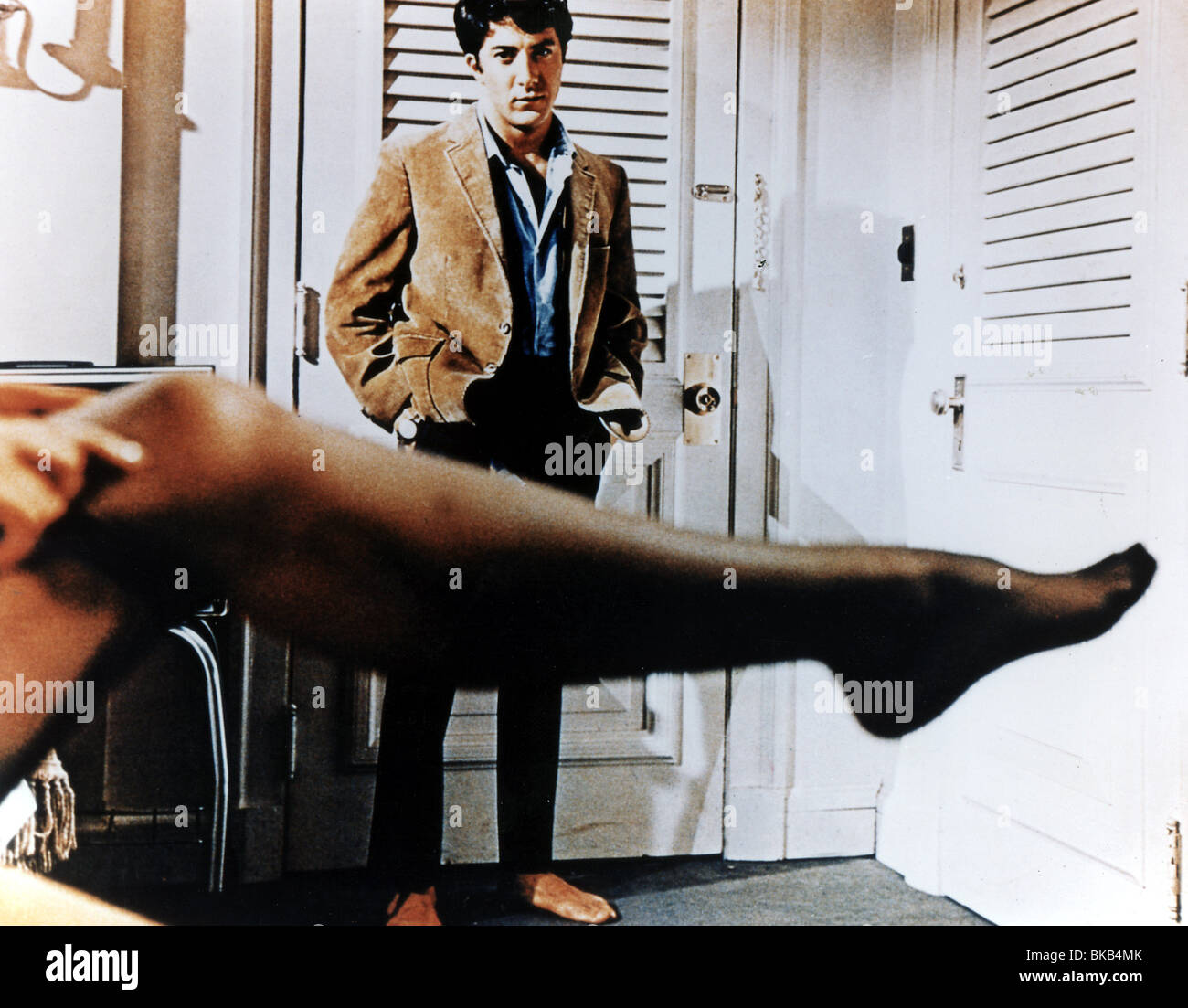THE GRADUATE (1967) DUSTIN HOFFMAN STOCKING GRD 010CP - Stock Image