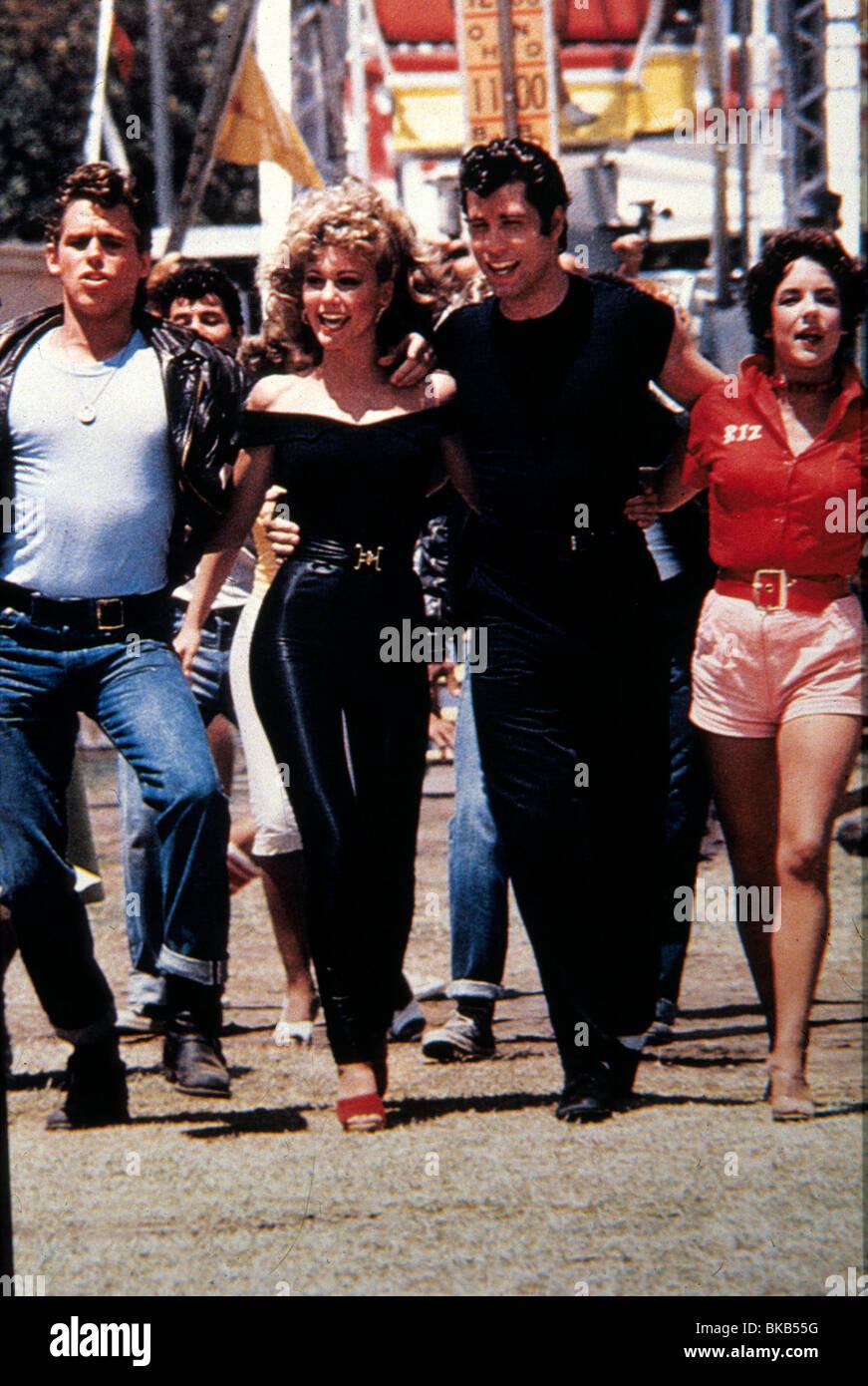 Grease 1978 Jeff Conaway Olivia Newton John John Travolta Stock Photo Alamy