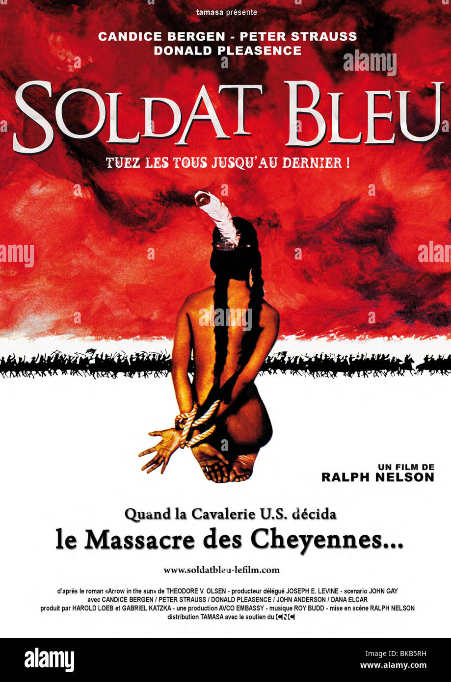 Soldier Blue Year : 1970 Director : Ralph Nelson Movie poster (Fr) - Stock Image