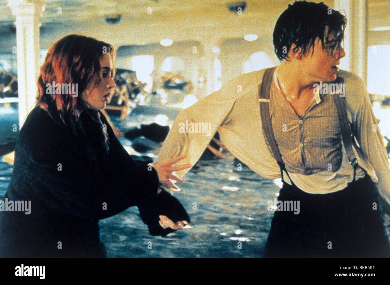 Titanic  Year : 1997  Director : James Cameron Kate Winslet, Leonardo DiCaprio - Stock Image