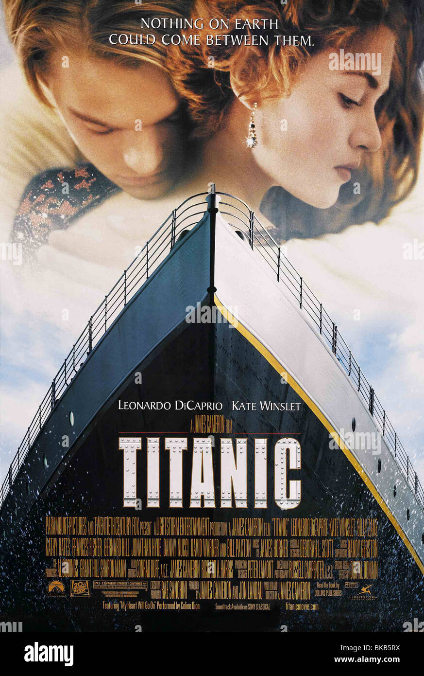 Titanic  Year : 1997  Director : James Cameron Kate Winslet, Leonardo DiCaprio  Movie poster (USA) - Stock Image