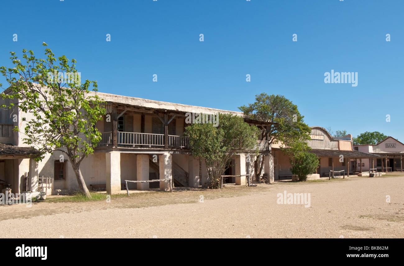 Texas, Hill Country, Brackettville, Alamo Village, movie location since 1951 Stock Photo