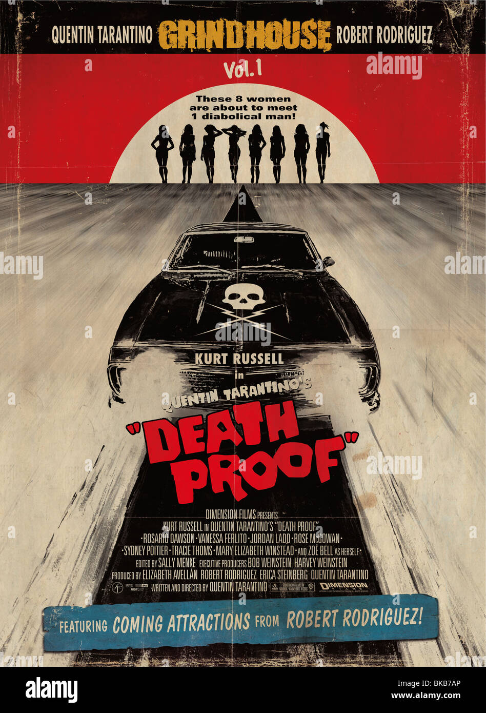 Grindhouse Death Proof  Year : 2007 Director : Quentin Tarantino Movie poster (USA) - Stock Image