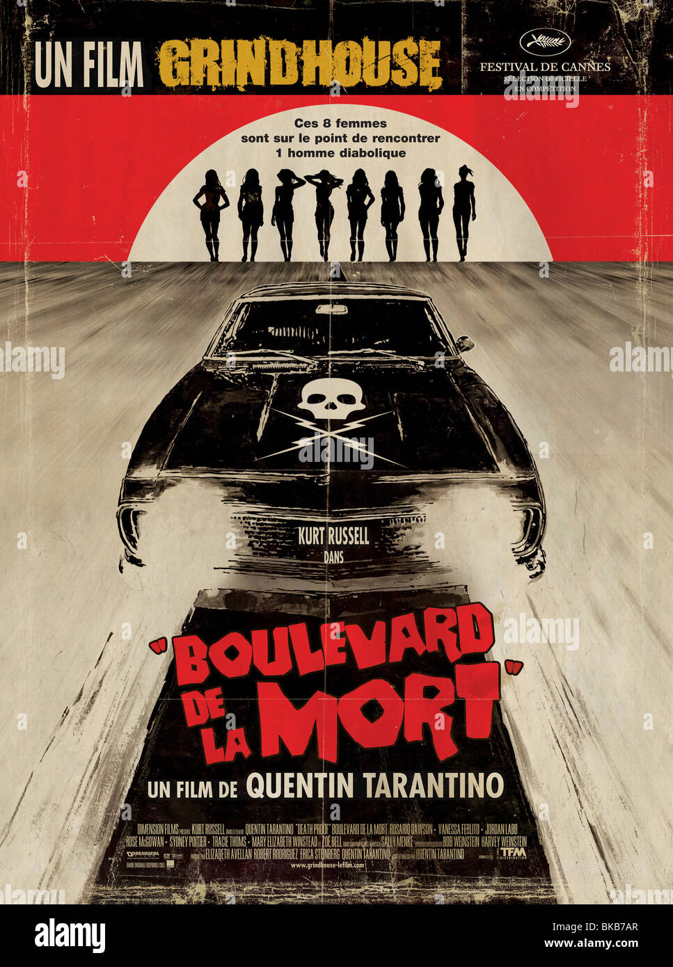 Grindhouse Death Proof  Year : 2007 Director : Quentin Tarantino Movie poster (Fr) - Stock Image