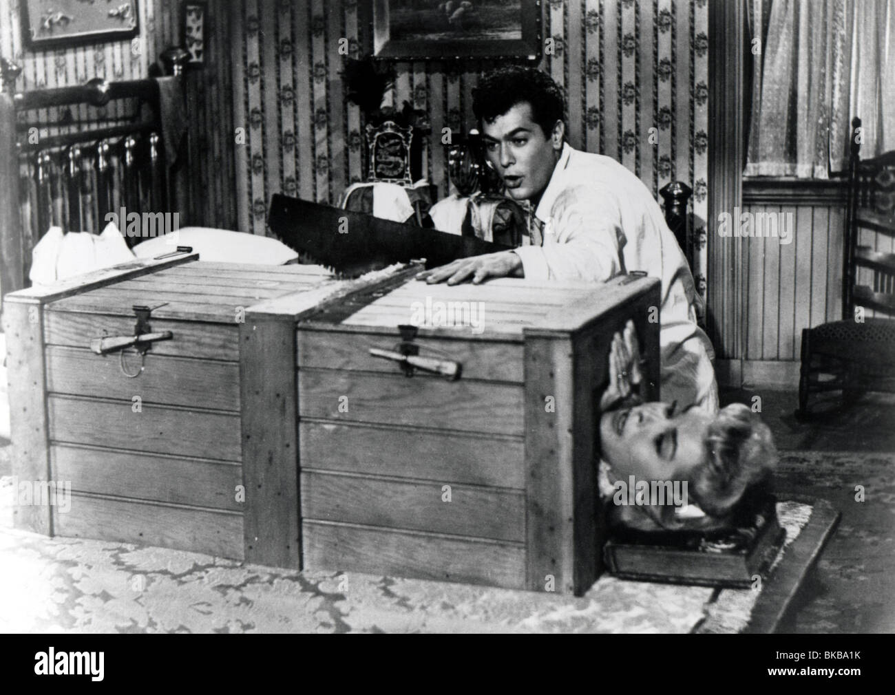houdini 1953 tony curtis janet leigh sawing woman in half houd