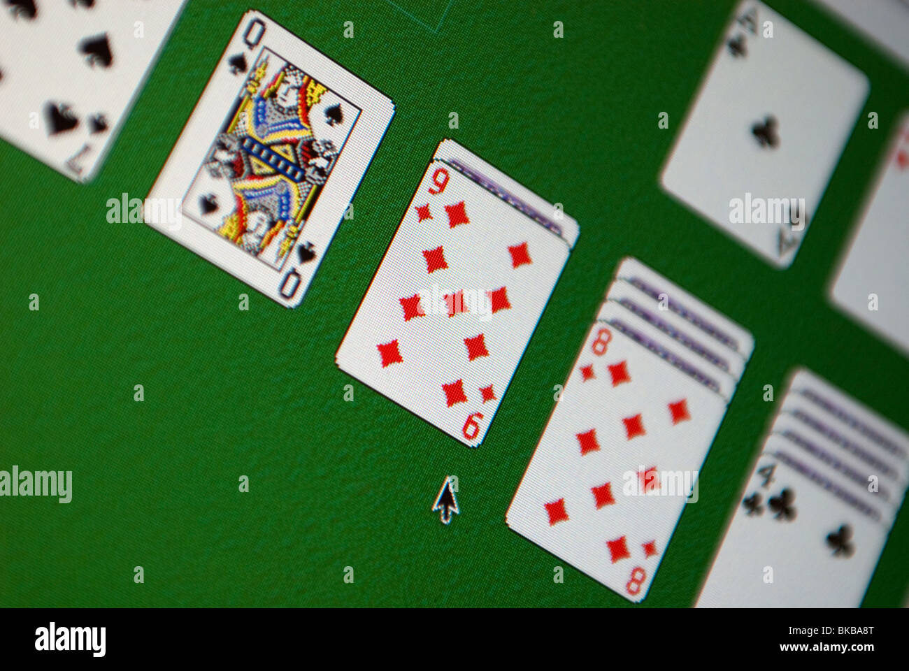solitaire card game - Stock Image