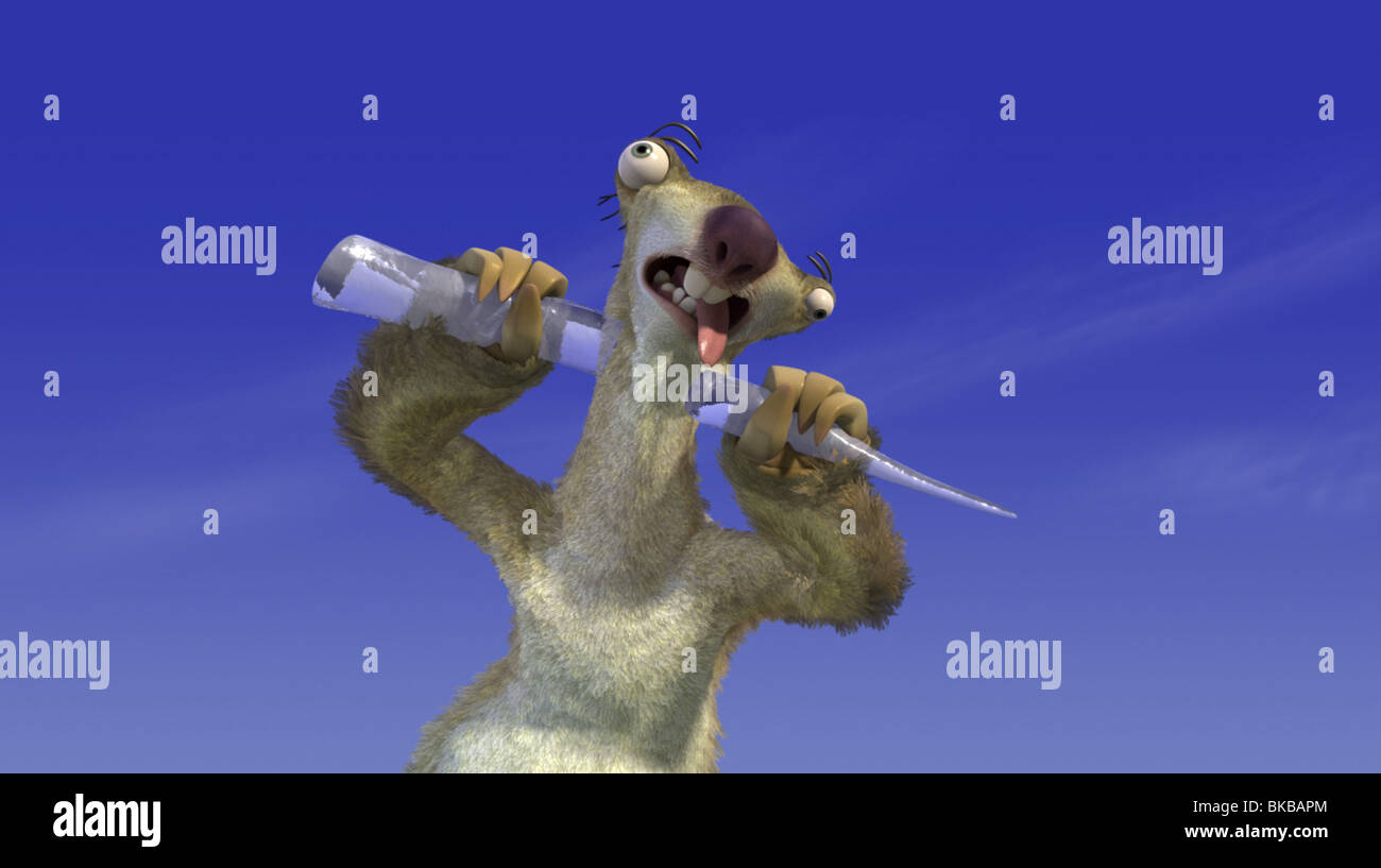ICE AGE -2002 ANIMATION - Stock Image