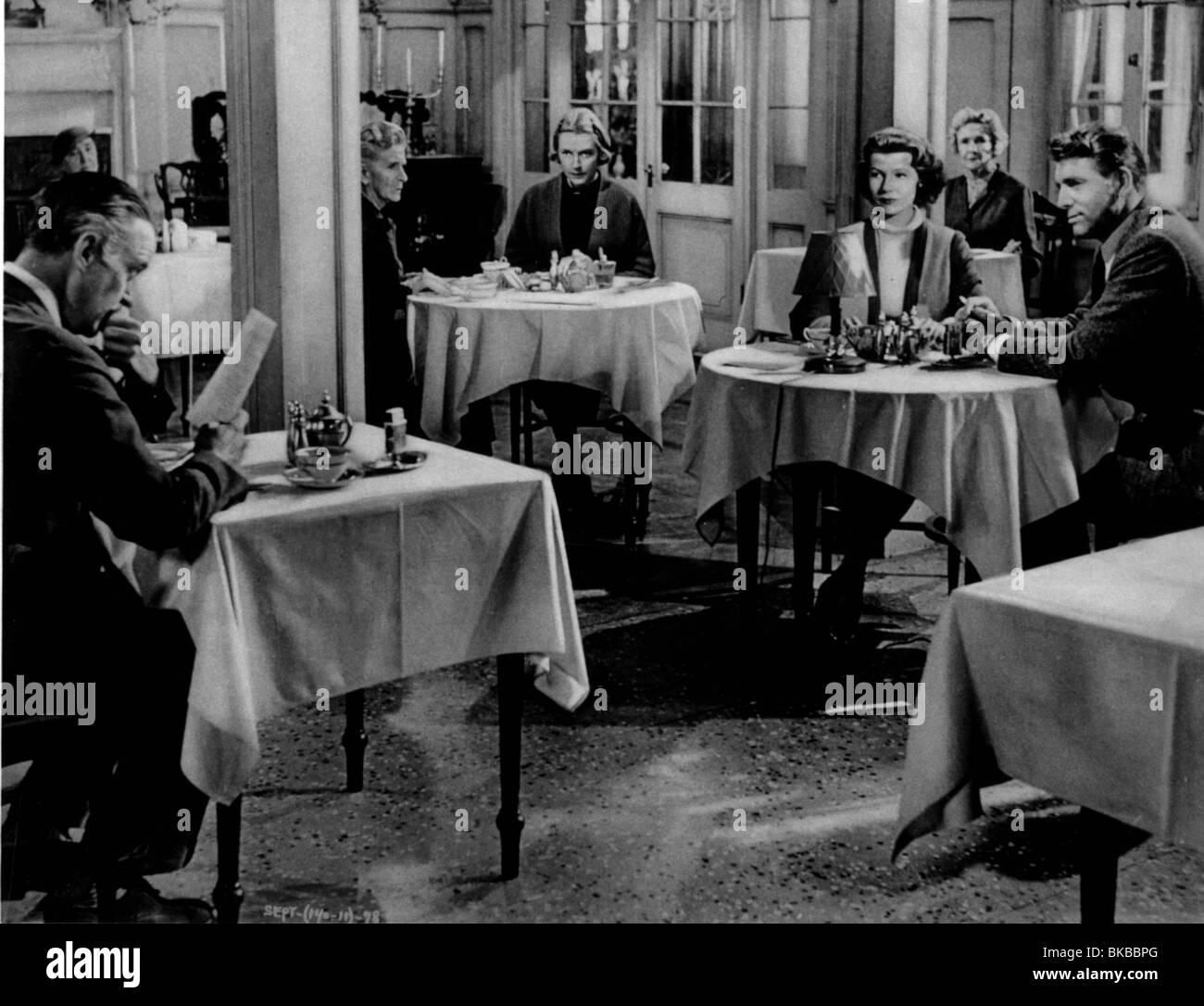 SEPARATE TABLES DAVID NIVEN,GLADYS COOPER,DEBORAH KERR,RITA HAYWORTH,CATHLEEN NESBITT,BURT LANCASTER - Stock Image