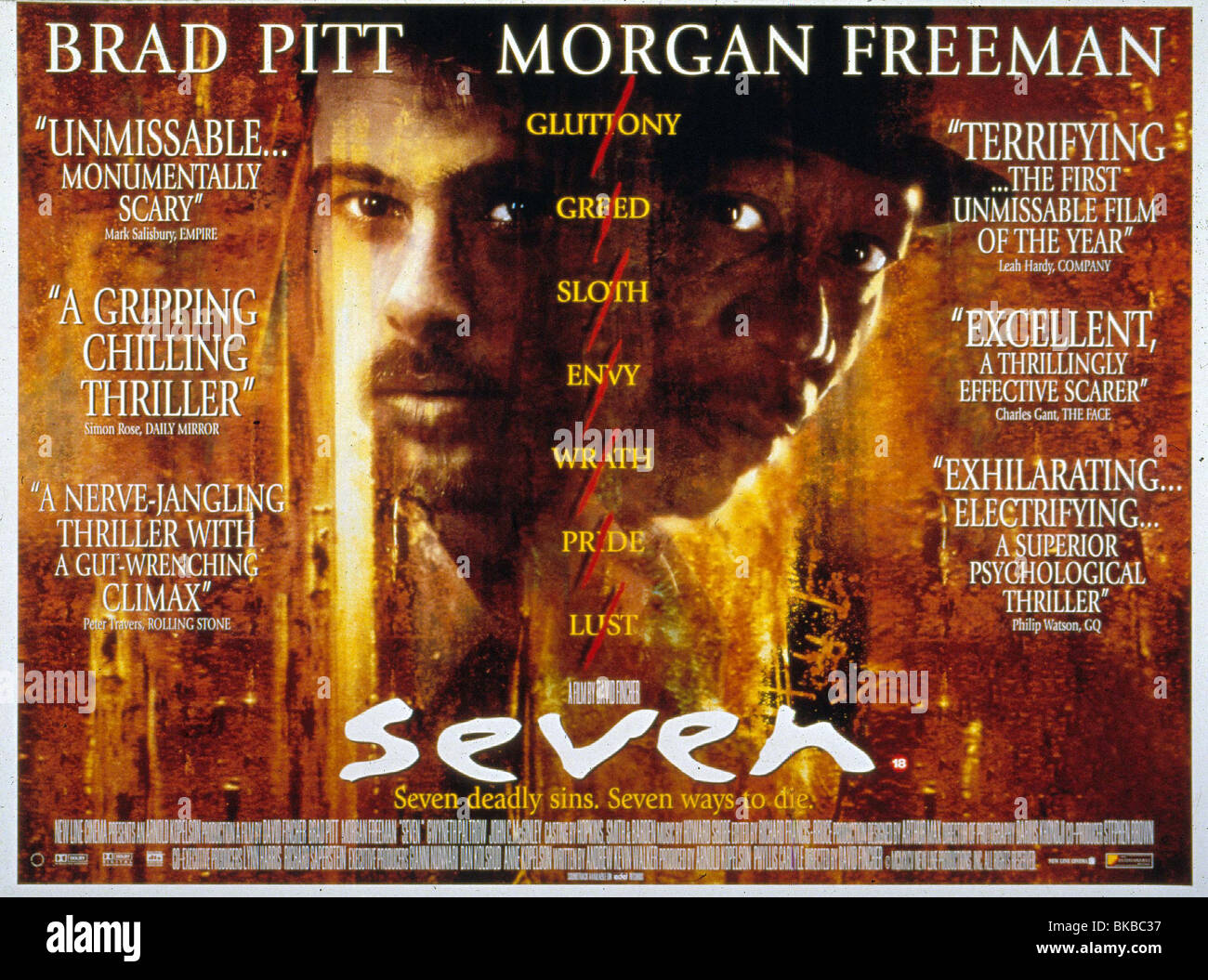 SEVEN -1995 POSTER - Stock Image