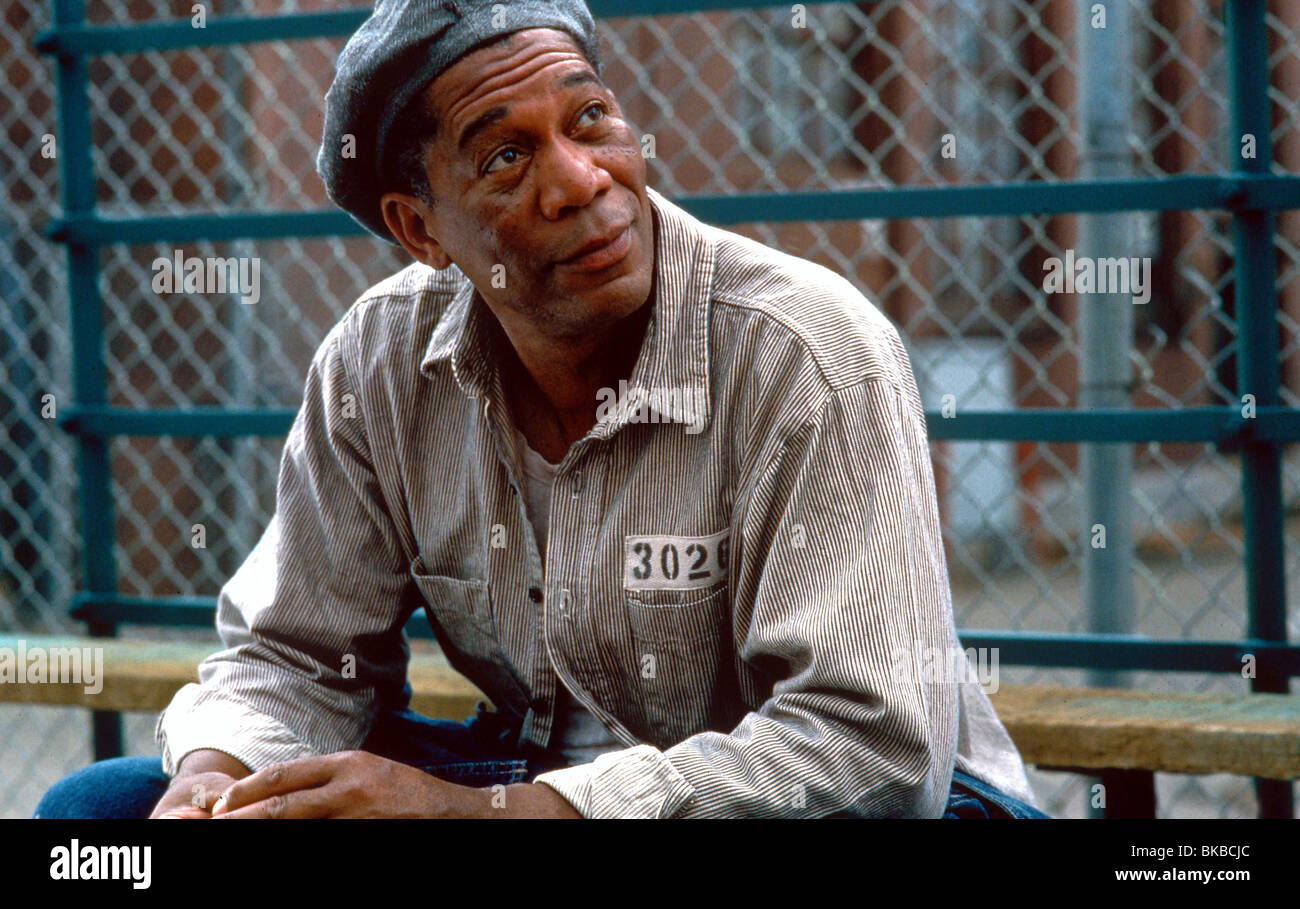 THE SHAWSHANK REDEMPTION (1994) MORGAN FREEMAN SHWK 008 - Stock Image