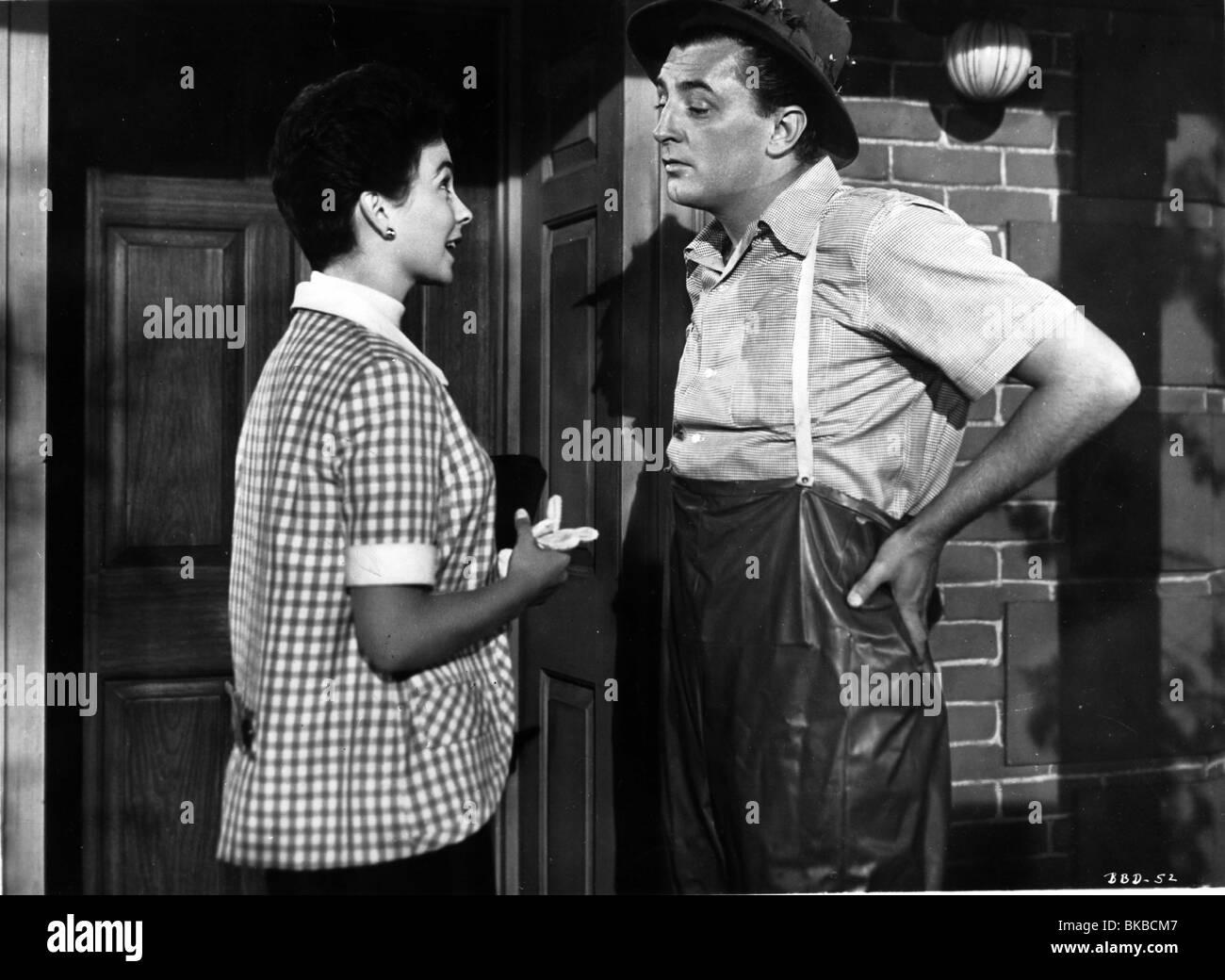 SHE COULDN'T SAY NO(1954) JEAN SIMMONS, ROBERT MITCHUM YES 001 B/WP - Stock Image