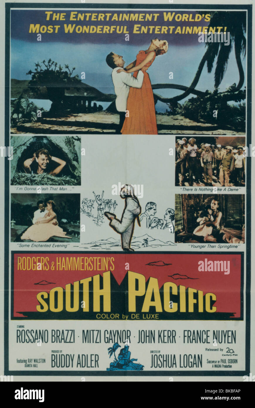 SOUTH PACIFIC -1958 POSTER - Stock Image