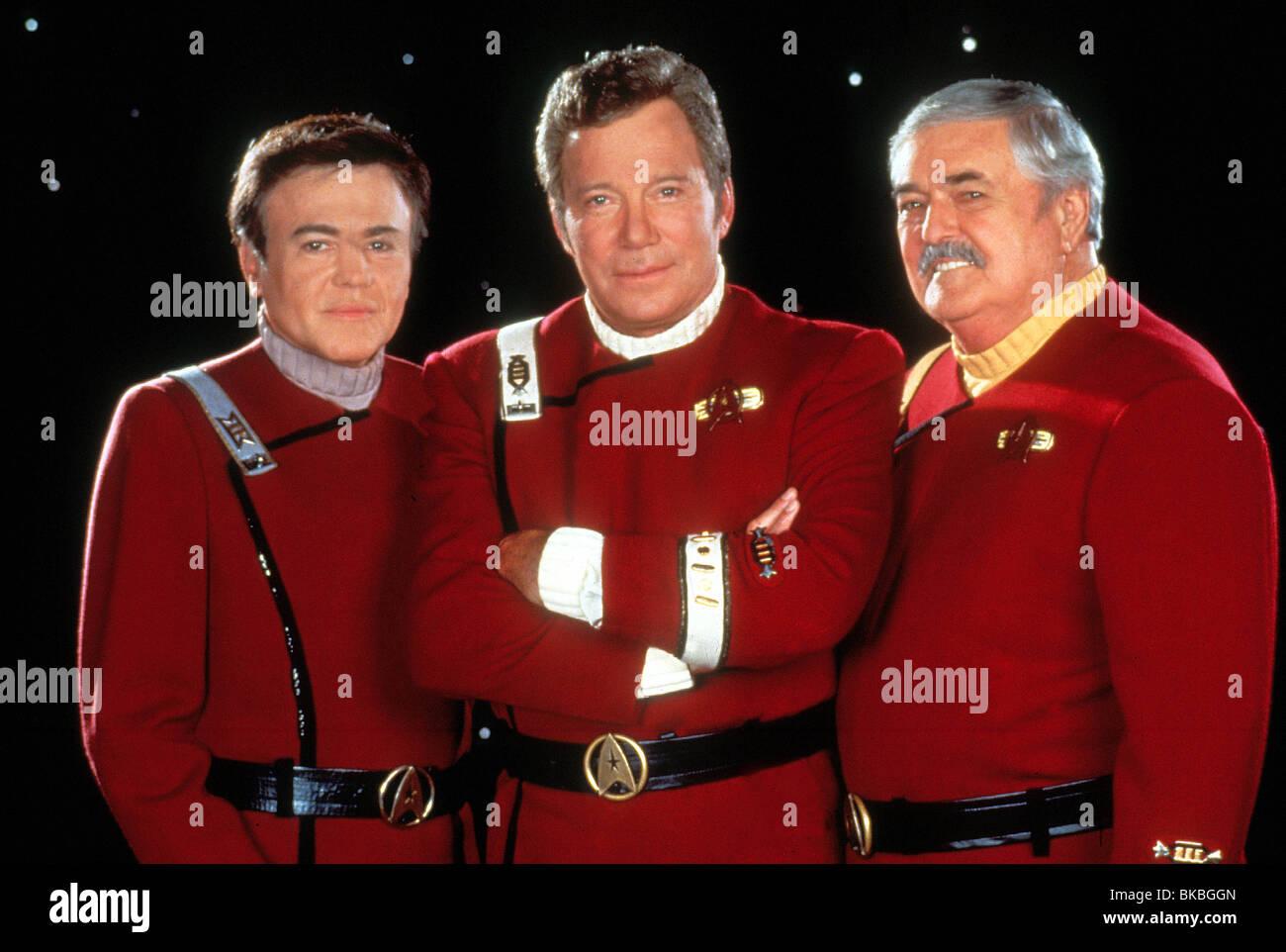 STAR TREK: GENERATIONS (1994) WALTER KOENIG, WILLIAM SHATNER, JAMES DOOHAN STGN 073 - Stock Image