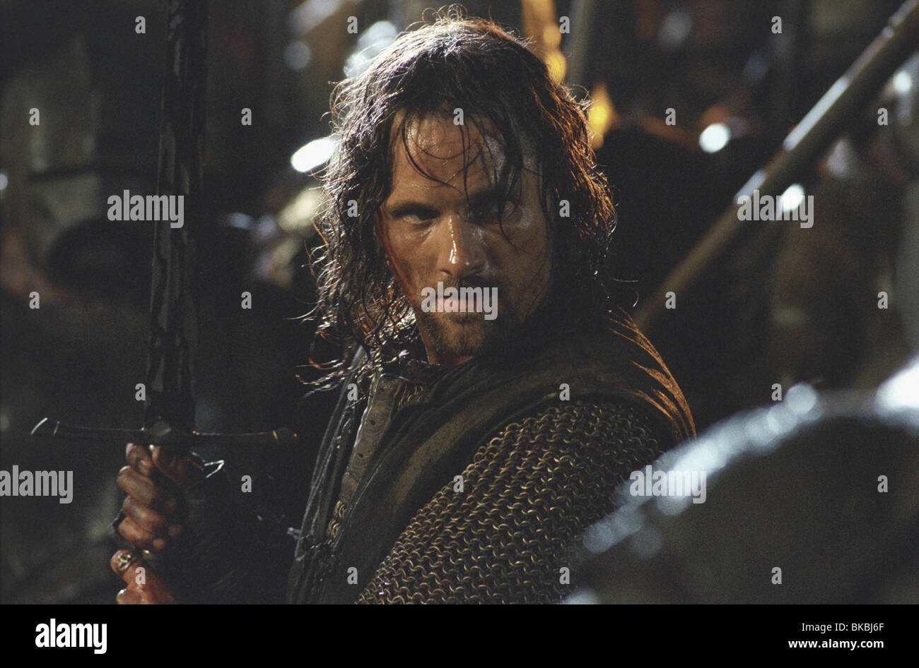 The Lord Of The Rings The Two Towers 2002 Viggo Mortensen Aragorn Stock Photo Alamy
