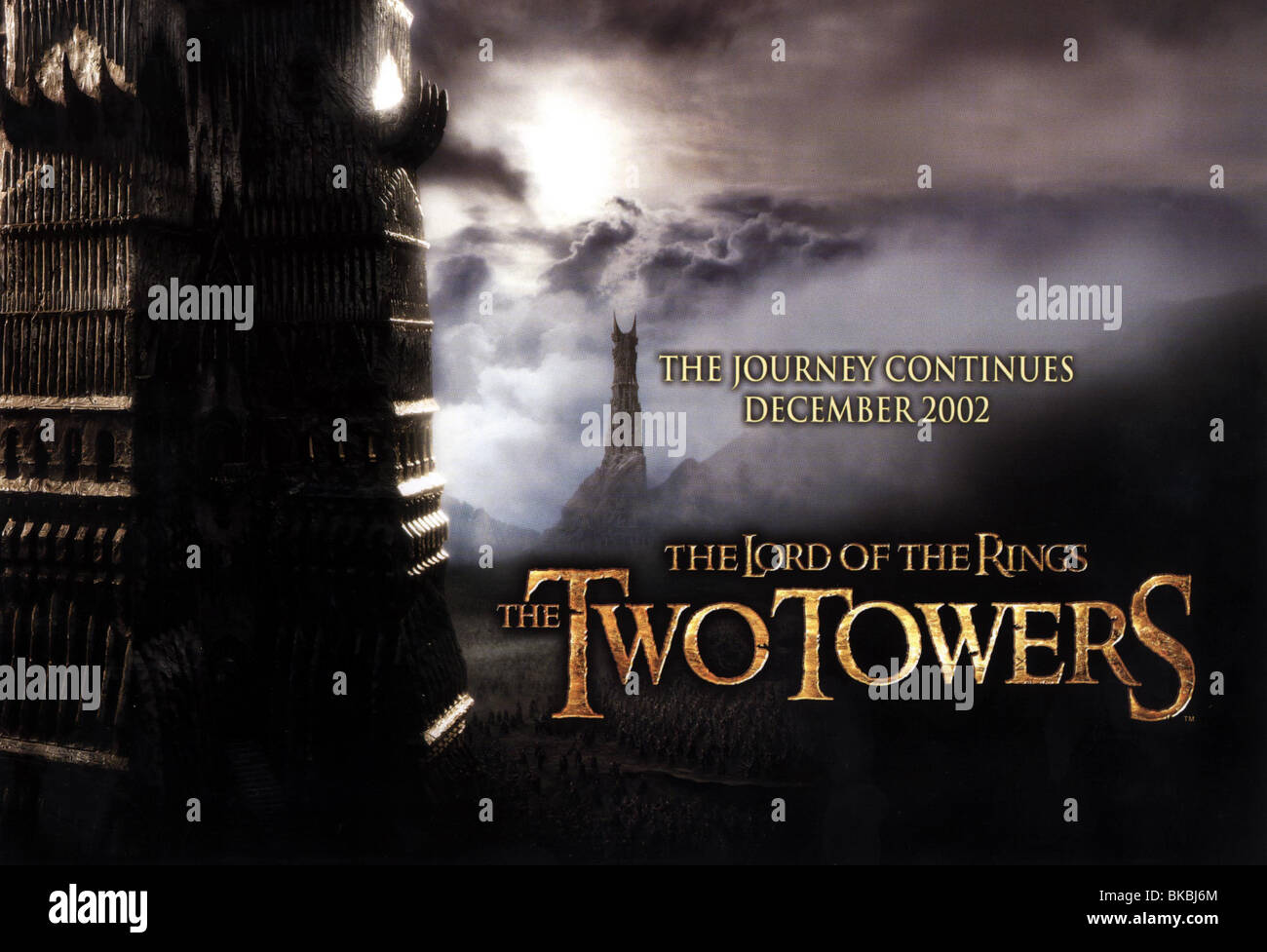 The Lord Of The Rings The Two Towers 2002 Poster Twrs 001cp Stock Photo Alamy