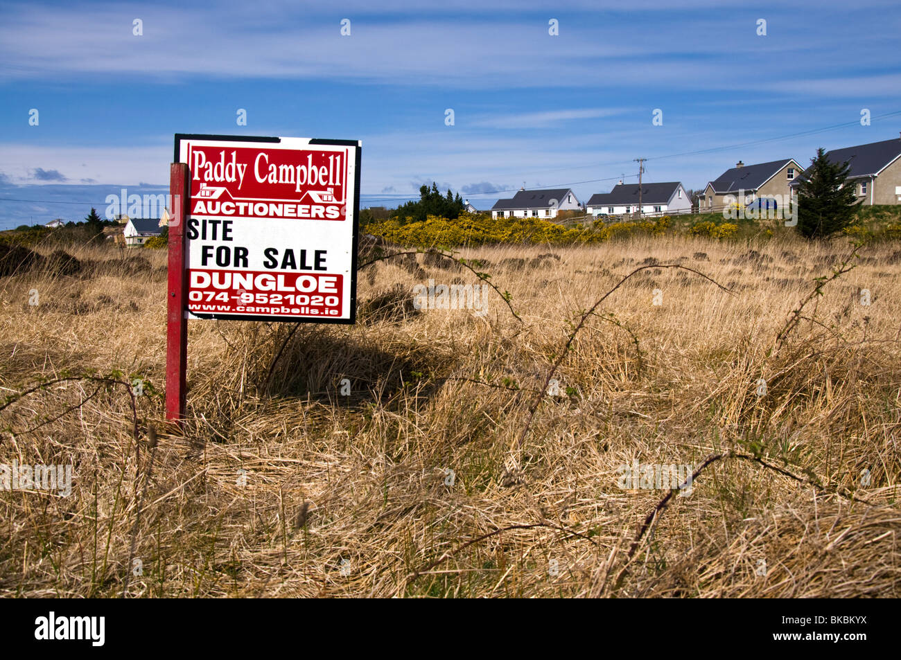 Land for sale in Donegal - Stock Image