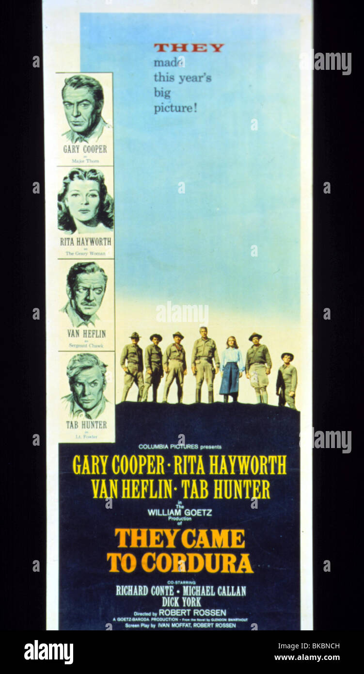 They came to Cordura Richard Conte movie poster print