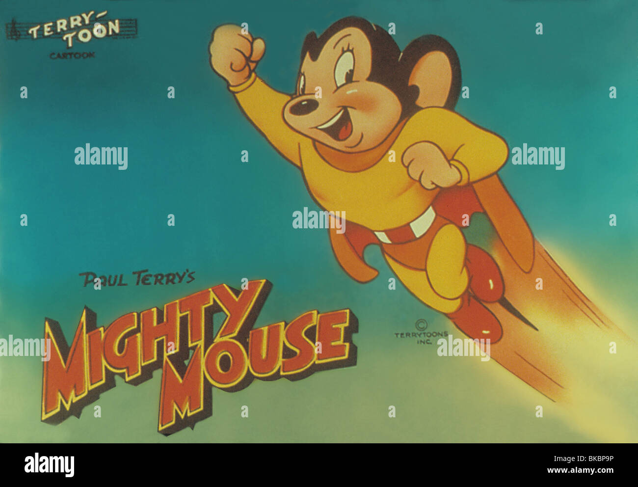 MIGHTY MOUSE (ANI) ANIMATED - Stock Image