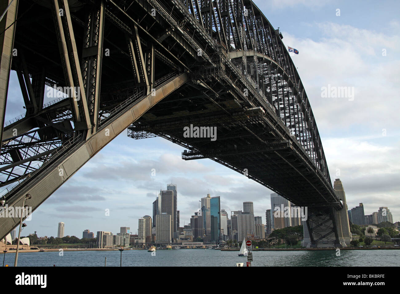 Sydney Harbour Bridge and Skyline in Sydney, New South Wales, Australia - Stock Image