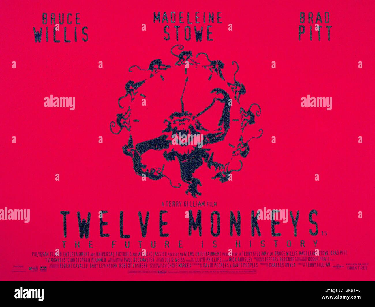 TWELVE MONKEYS -1995 POSTER - Stock Image