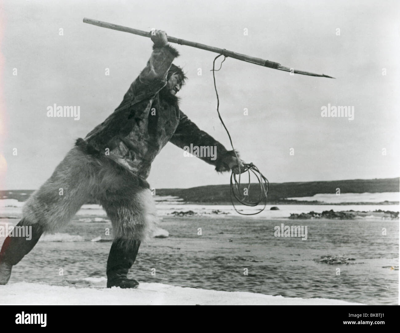 NANOOK OF THE NORTH -1921 - Stock Image