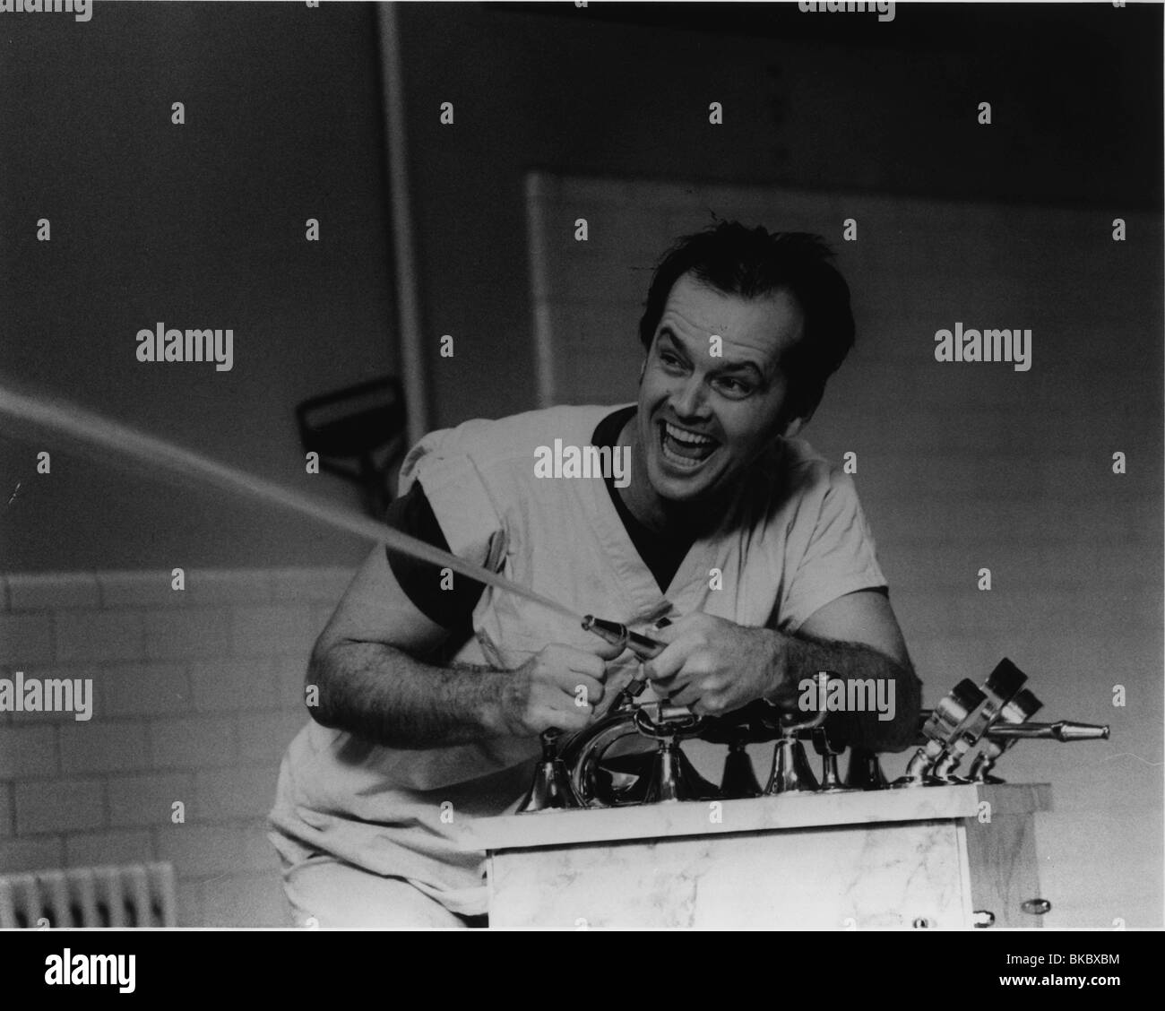 ONE FLEW OVER THE CUCKOO'S NEST(1975) JACK NICHOLSON OFC 001P - Stock Image