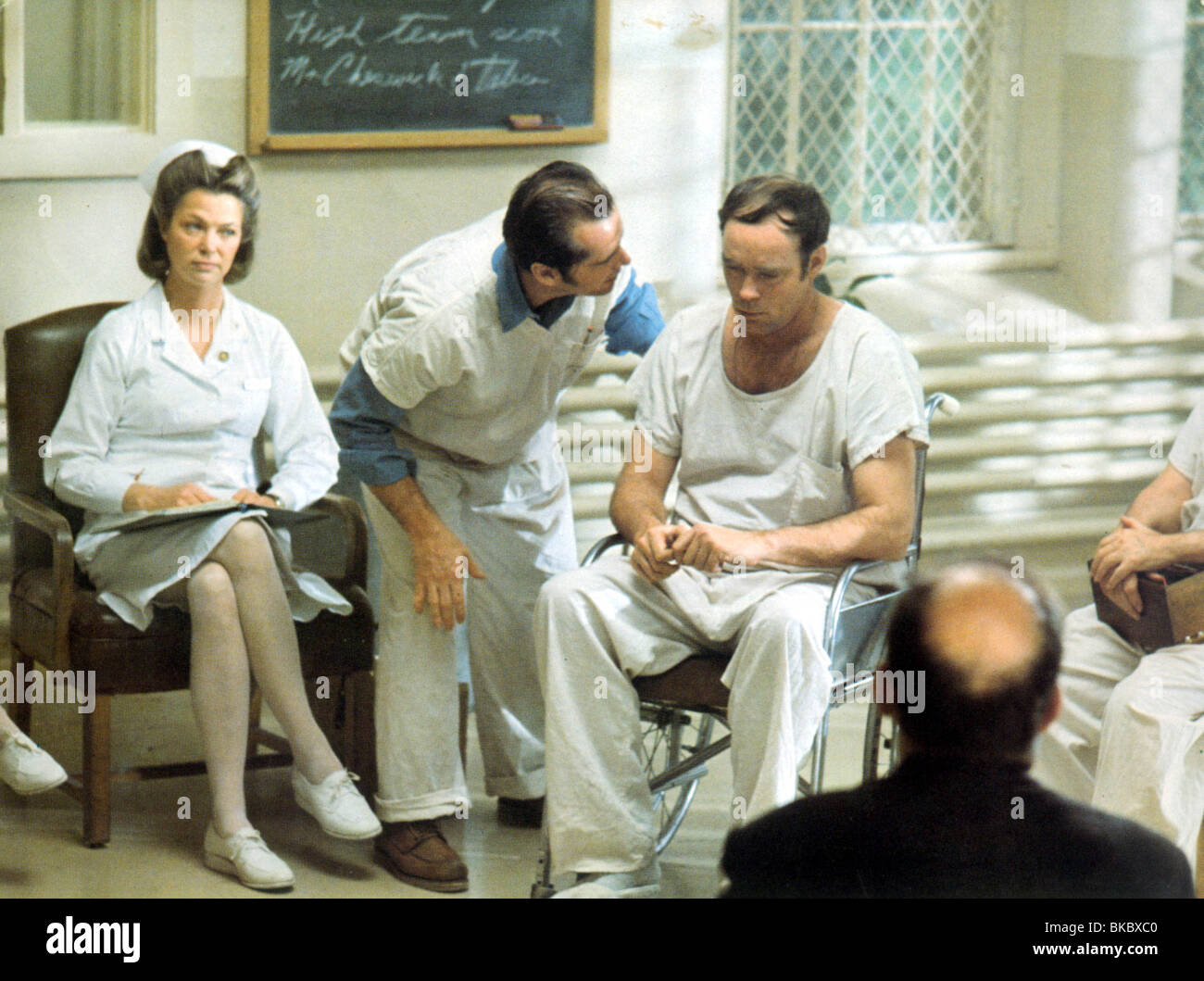 ONE FLEW OVER THE CUCKOO'S NEST(1975) LOUISE FLETCHER,JACK NICHOLSON OFC 003FOH - Stock Image