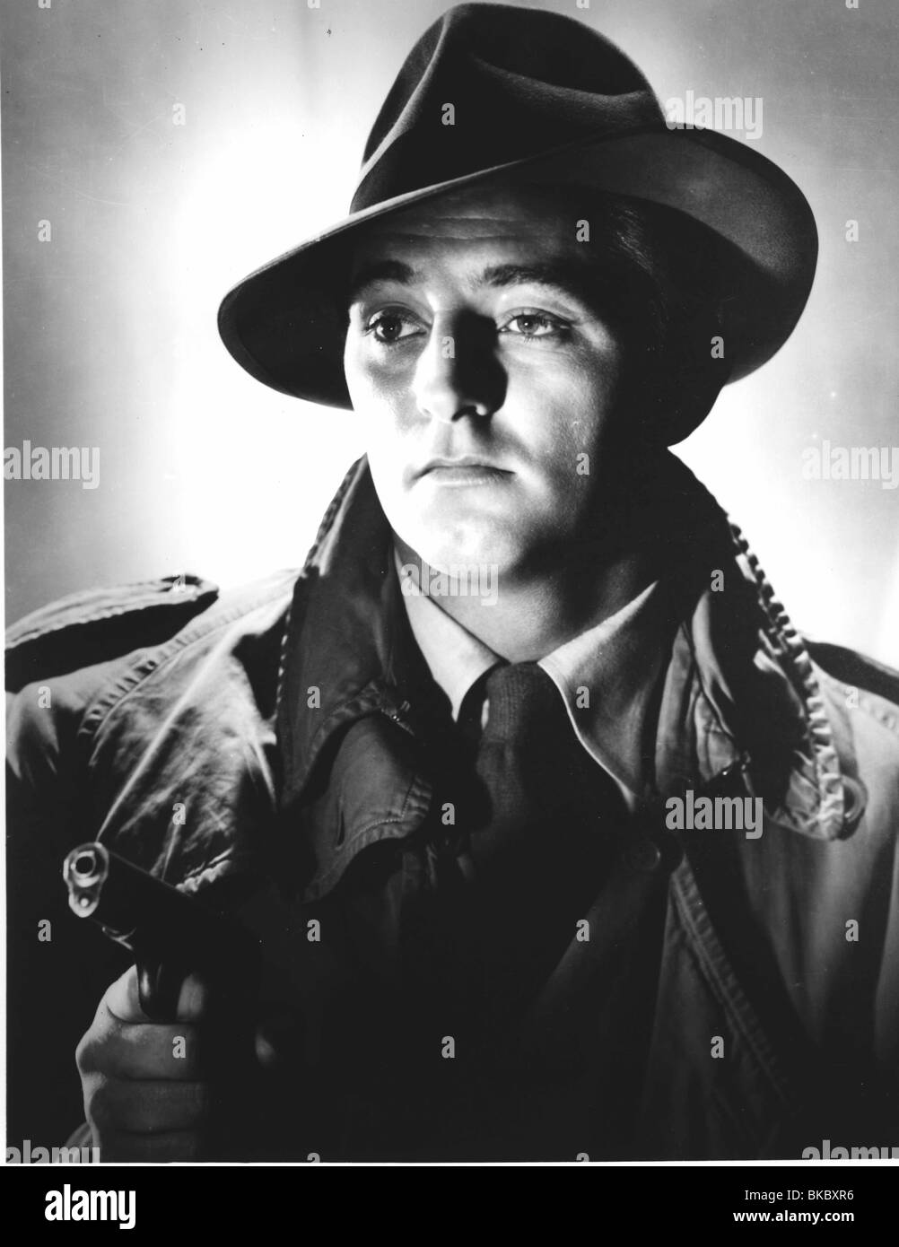 OUT OF THE PAST (1947) BUILD MY GALLOWS HIGH (ALT) ROBERT MITCHUM OOTP 001P - Stock Image