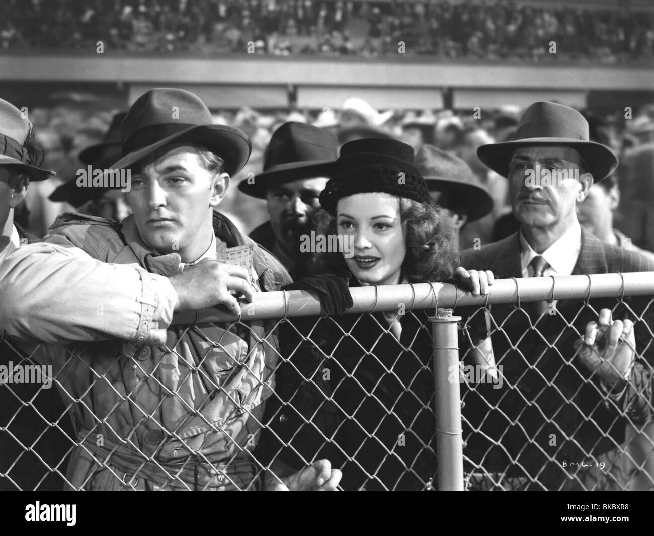 OUT OF THE PAST (1947) BUILD MY GALLOWS HIGH (ALT) ROBERT MITCHUM OOTP 002P - Stock Image