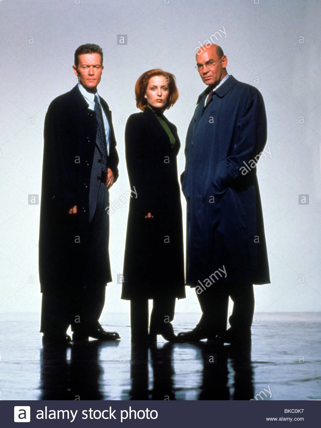 THE X-FILES (TV) ROBERT PATRICK, GILLIAN ANDERSON, MITCH PILEGGI XFIL 458 - Stock Image