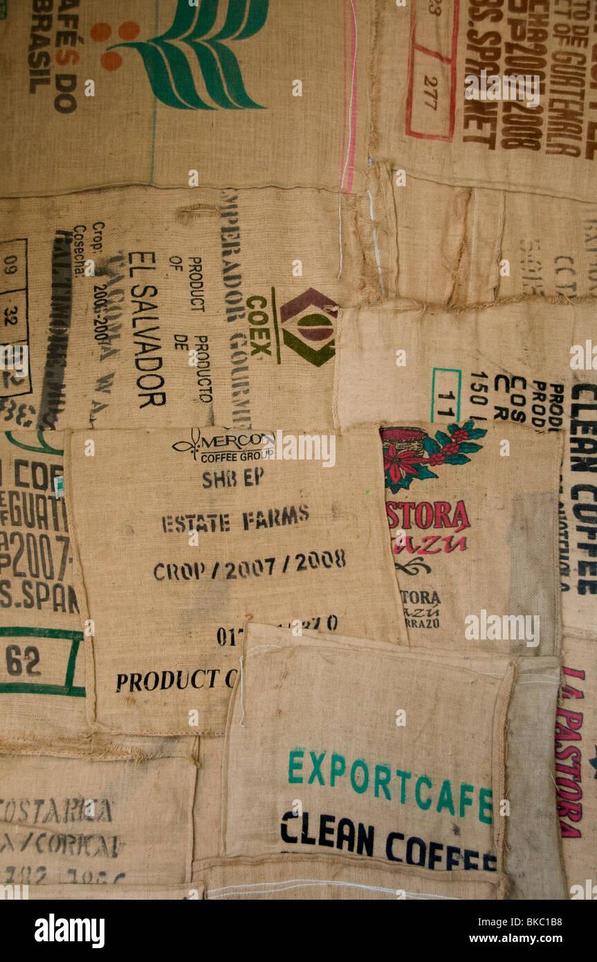 coffee roasting factory bag export  Estate Farms - Stock Image
